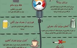 اینفوگرافیک هشت راهکار طبیعی برای کاهش فشار خون