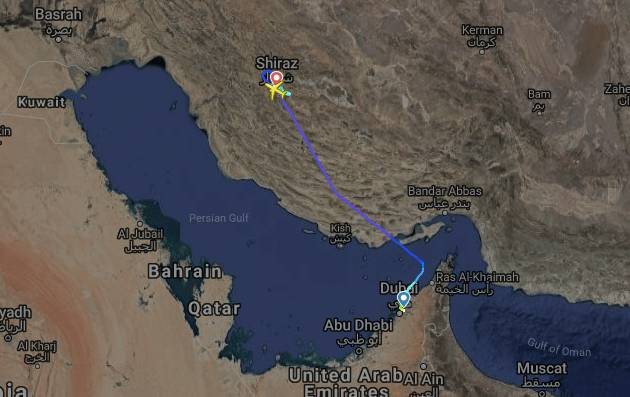 تحرم ایران مانع تعمیر هواپیمای نروژی در شیراز