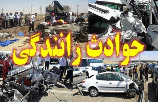 تصادف تریلی و خودروی سواری,اخبار حوادث,خبرهای حوادث,حوادث