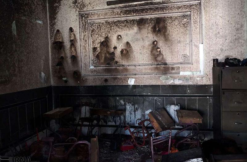 آتش سوزی دبستانی در زاهدان,نهاد های آموزشی,اخبار آموزش و پرورش,خبرهای آموزش و پرورش