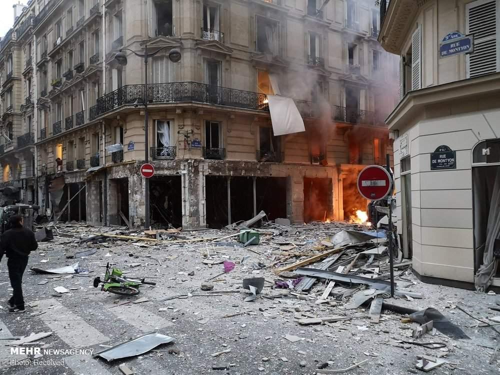 عکس انفجار در پایتخت فرانسه,تصاویرانفجار در پایتخت فرانسه,تصاویرخسارات انفجار در پایتخت فرانسه