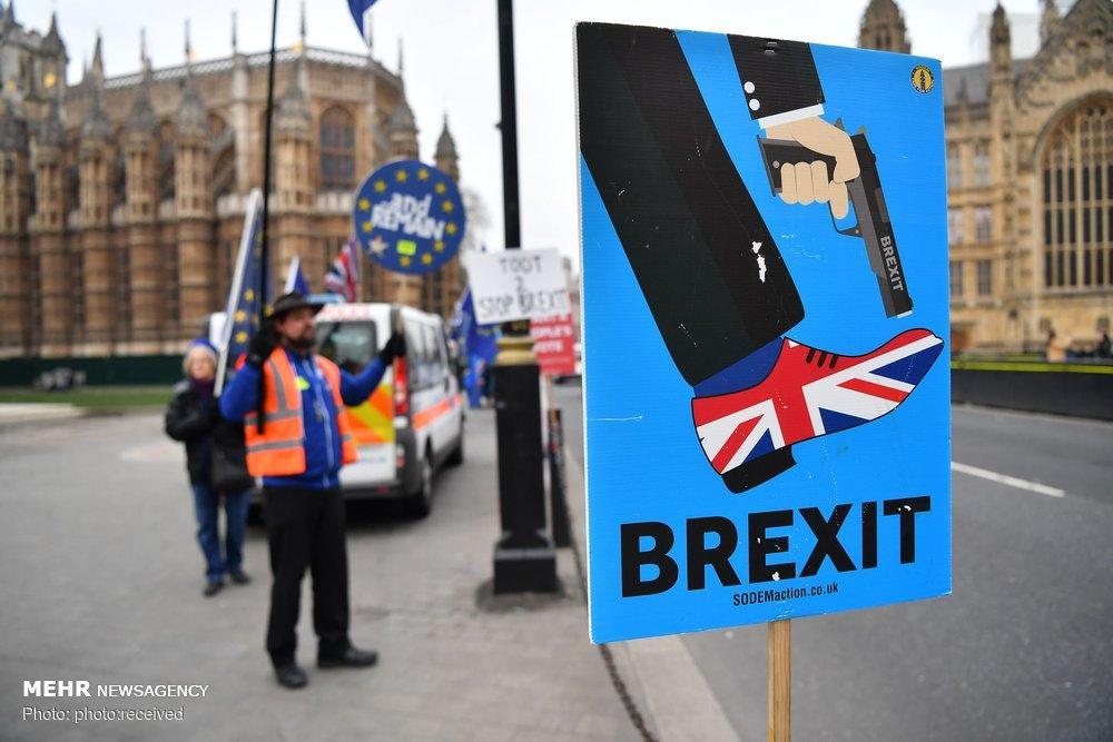 عکس برگزیت در انگلیس,تصاویربرگزیت در انگلیس,عکس تظاهرات مخالفان برگزیت در انگلیس