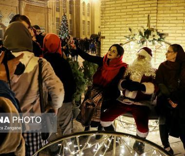 تصاویر کریسمس در جلفا اصفهان,عکس های کریسمس در جلفای اصفهان,عکس های کریسمس در محله ارامنه اصفهان