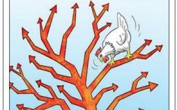 کاریکاتور افزایش قیمت مرغ و تلف شدن مردم,کاریکاتور,عکس کاریکاتور,کاریکاتور اجتماعی