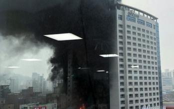 آتشسوزی در یک هتل در کره جنوبی,اخبار حوادث,خبرهای حوادث,حوادث امروز