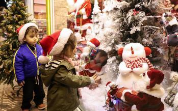 تصاویر خرید کریسمس در تهران,عکس های خرید کریسمس در تهران,تصاویر شهر تهران در کریسمس 2019