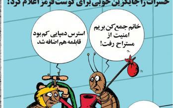 کارتون جایگزینی حشرات بجای گوشت قرمز,کاریکاتور,عکس کاریکاتور,کاریکاتور اجتماعی