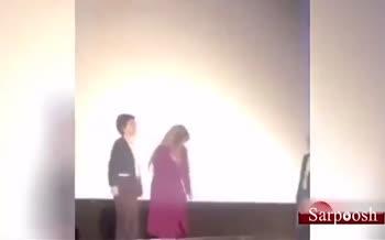 فیلم/ دست ندادن «شبنم قلی خانی» با دبیر جشنواره فیلم هند