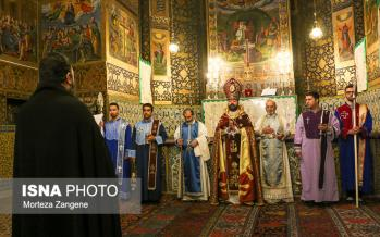 تصاویر مراسم سال نو میلادی در کلیسای وانک,عکس های مراسم سال 2019 در کلیسا وانک اصفهان,عکس های عشای ربانی در کلیسا وانک اصفهان