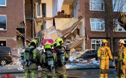 تصاویر انفجار در هلند,عکسهای حادثه انفجار در هلند,عکس های انفجار در لاهه هلند