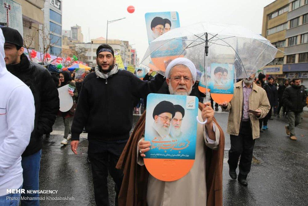 تصاویر راهپیمایی 22 بهمن،عکس های راهپیمایی روز 22 بهمن سال 97,تصاویر چهره های سیاسی در راهپیمایی 22 بهمن