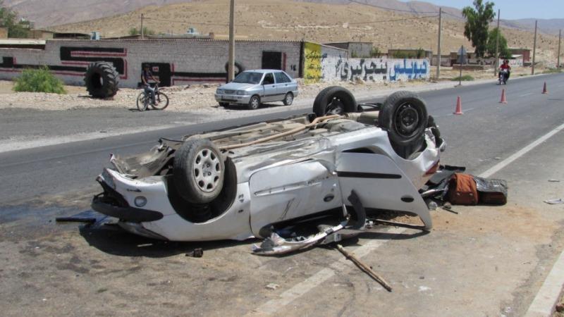 واژگونی خودرو در رفسنجان,اخبار حوادث,خبرهای حوادث,حوادث