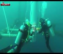 ویدئو/ انجام تعمیرات زیرآب توسط شرکت نفت فلات قاره ایران