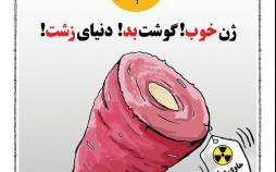 کارتون گرانی گوشت,کاریکاتور,عکس کاریکاتور,کاریکاتور اجتماعی