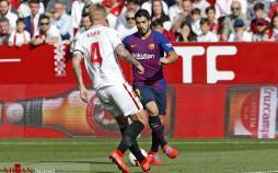 عکس بازی تیمهای بارسلونا و سویا،تصاویربازی تیمهای بارسلونا و سویا،عکس بازیکنان بازی بارسلونا و سویا