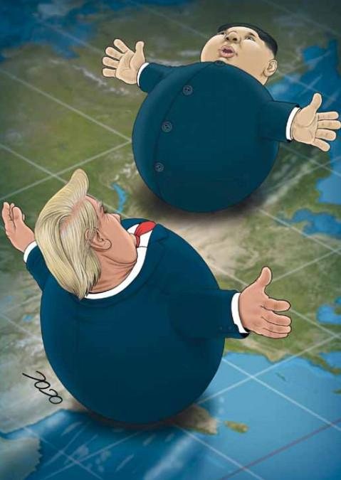 کاریکاتور دیدار دوباره دونالد ترامپ و کیم جونگ اون