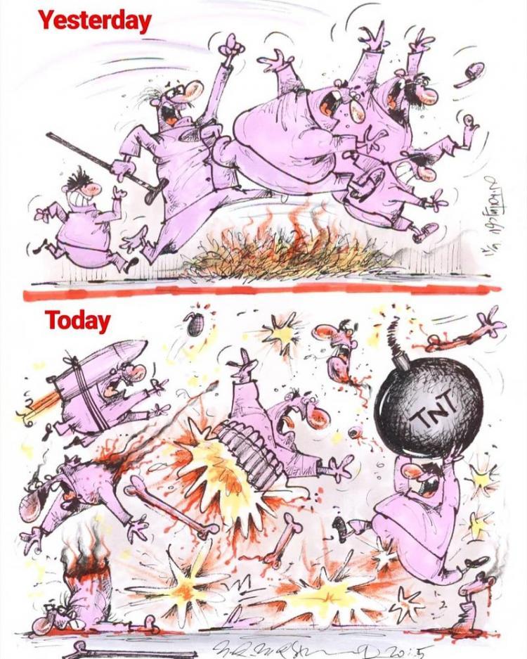 کاریکاتور چهارشنبه سوری,کاریکاتور,عکس کاریکاتور,کاریکاتور اجتماعی