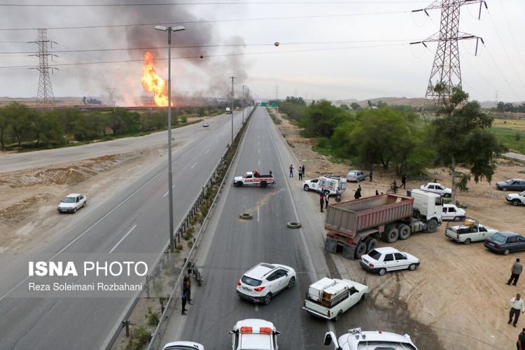 تصاویر انفجار در خط لوله گاز اهواز,عکس های انفجار در خط لوله گاز اهواز,تصاویر انفجار در خط لوله گاز