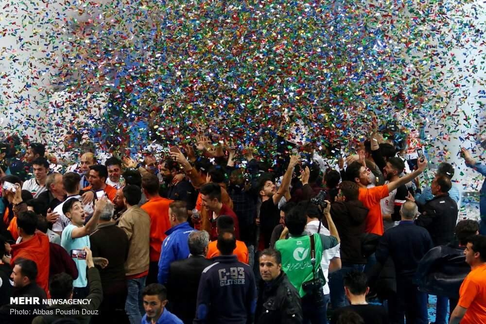 تصاویر فینال لیگ برتر فوتسال,عکس های قهرمانی لیگ برتر فوتسال,تصاویر دیدار تیم مس سونگون و گیتیپسند