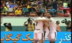 فیلم/ مراسم اهدای جامقهرمانی لیگ برتر والیبال 97 به شهرداری ورامین