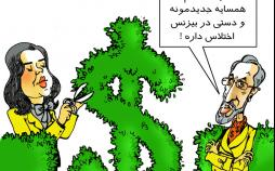 کاریکاتور اختلاس مرجان شیخ الاسلامی