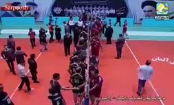 فیلم/ درگیری در دیدار تیمهای والیبال شهرداری ورامین و پیام