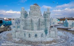 تصاویرآب شدن یخ های جشنواره یخ هاربین,عکس های جشنواره یخ هاربین,تصاویری از فستیوال یخ در چین