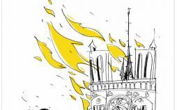کاریکاتور در مورد آتش گرفتن کلیسا نوتردام,کاریکاتور,عکس کاریکاتور,کاریکاتور اجتماعی