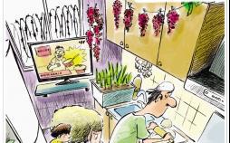 کاریکاتور تورم کالاهای مصرفی,کاریکاتور,عکس کاریکاتور,کاریکاتور اجتماعی