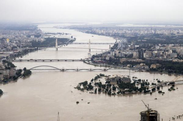 رودخانه کارون,اخبار حوادث,خبرهای حوادث,حوادث طبیعی