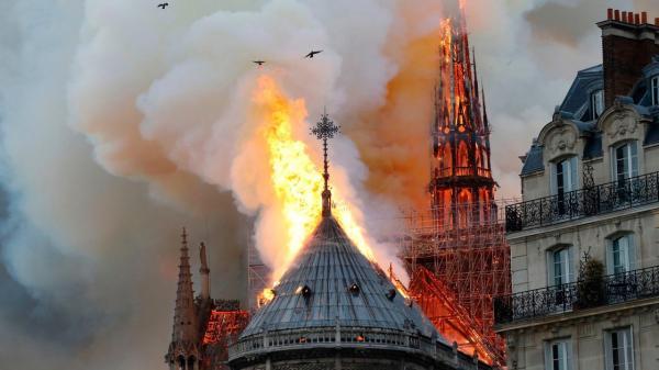 آتش سوزی کلیسای نوتردام,اخبار حوادث,خبرهای حوادث,حوادث امروز