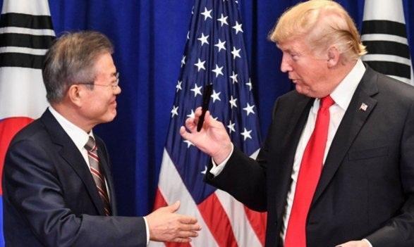 رئیسجمهور کره جنوبی با هدف احیای مذاکرات آمریکا - کره شمالی وارد واشنگتن شد