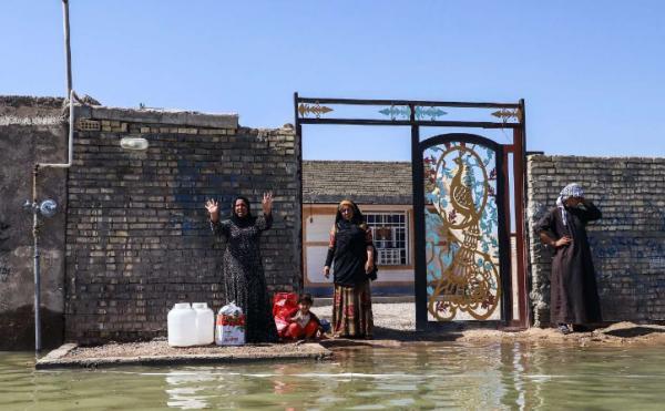 سیلاب به کوی ملاشیه اهواز رسید/ فرماندار آبادان: نگران سیلاب از سمت عراق هستیم
