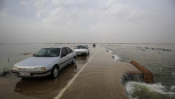 محاصره خودروها در سیل جاده راور-دیهوک,اخبار حوادث,خبرهای حوادث,حوادث طبیعی