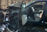 حادثه ی برخورد خودرو با سکوهای سیمانی,اخبار حوادث,خبرهای حوادث,حوادث