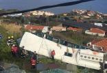 واژگونی اتوبوس حامل گردشگران در پرتغال,اخبار حوادث,خبرهای حوادث,حوادث