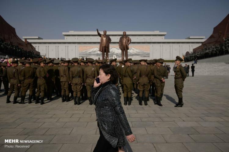 تصاویر روز خورشید در کره شمالی,عکس های کره شمالی,تصاویر جشن در کره شمالی