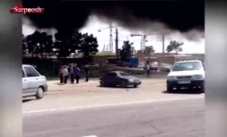 ویدئو/ تصادف شدید در اتوبان تهران - ساوه