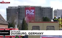 فیلم/ تخریب ساختمان ۲۰ طبقه در آلمان در ۳ ثانیه
