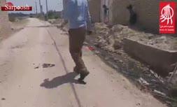 فیلم/ وجود فاضلاب در کوچههای روستای حلهودله