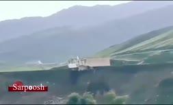 فیلم/ لحظه سقوط ساختمان جهاد کشاورزی به داخل رودخانه سزار