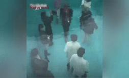 ویدئو/ در این استخر لباسها خیس نمیشود