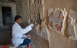 تصاویر کشف مقبره سرباز مصری,عکس های تاریخی,تصاویر دیدنی از مقبره ای در مصر