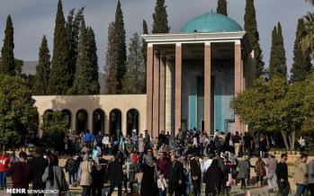 تصاویر بزرگداشت سعدی در شیراز,عکس های بزرگداشت سعدی در شیراز,تصاویری از حضور مردم در روز بزرگداشت سعدی در شیراز