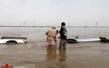 تصاویر سیل شادگان,عکس های سیل در شادگان خوزستان,عکس های غرق شدن خودروها در سیلاب خوزستان