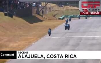 فیلم/ کتککاری در مسابقه موتورسواری