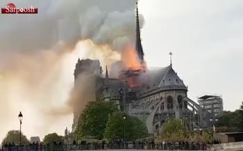 فیلم/ آتشسوزی در کلیسای نوتردام پاریس