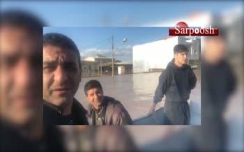 فیلم/ سردار آزمون و پوریا تابان در مناطق سیلزده استان گلستان