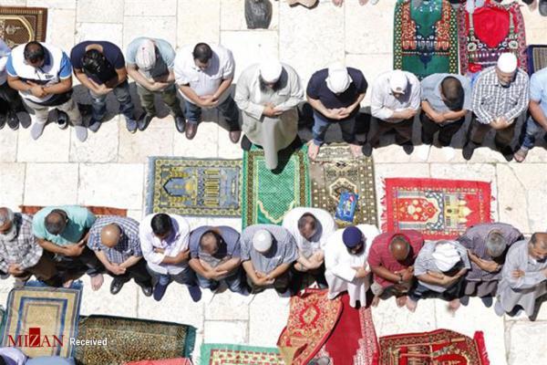 عکس نماز جمعه ماه رمضان در مسجدالاقصی,تصاویرنماز جمعه ماه رمضان در مسجدالاقصی,عکس نماز جمعه در مسجدالاقصی