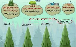 اینفوگرافیک وضعیت جنگلهای کشور